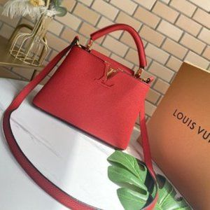 LV CAPUCINES BB BAG RED